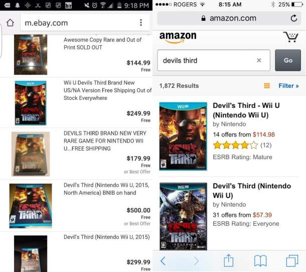 Devils third prices