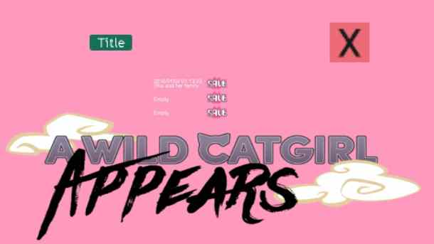 A Wild Catgirl Appears! | Save Screen
