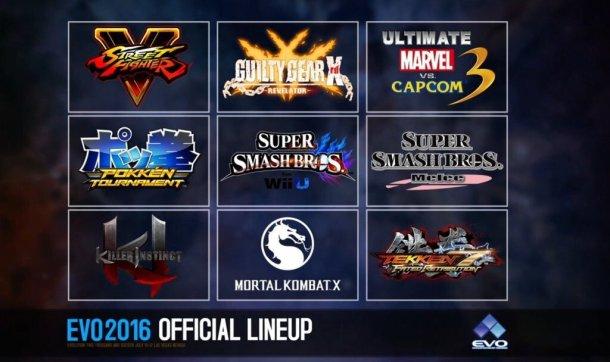EVO 2016 Lineup