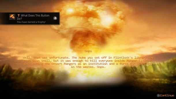 Wasteland 2 DC | End of Game Nuke Screen