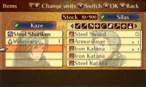 Fates Birthright | Inventory Screen