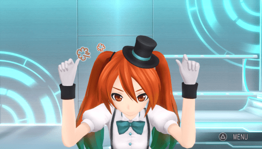 Project DIVA X Miku angry poke reaction