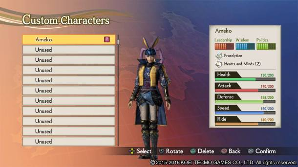 Samurai Warriors 4 Empires | Edit Mode