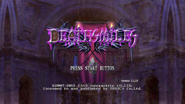 Deathsmiles Title Screen