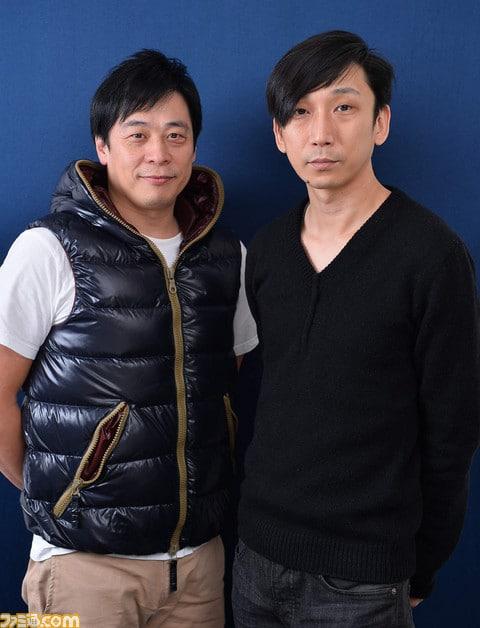 Hajime Tabata and Takeshi Nozue, courtesy of Famitsu.
