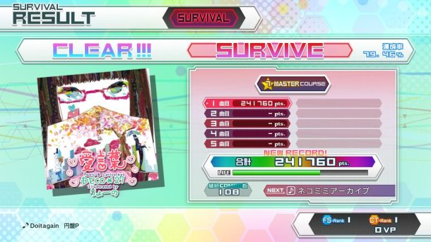 Hatsune Miku Future Tone | Survival Mode Clear