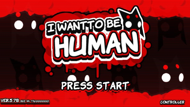 I Want To Be Human Title Screen