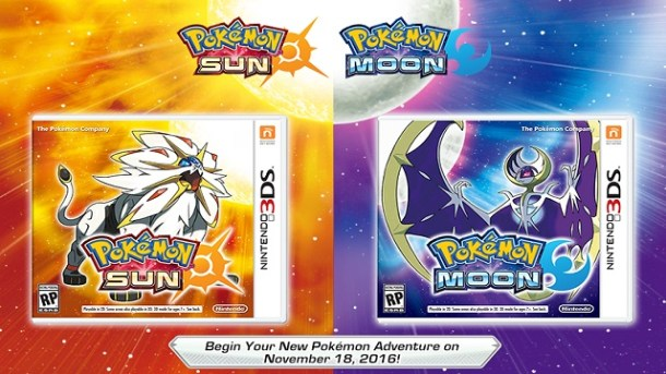 Pokémon Sun and Moon Box Art