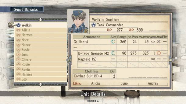 Valkyria Chronicles Remastered | Squad