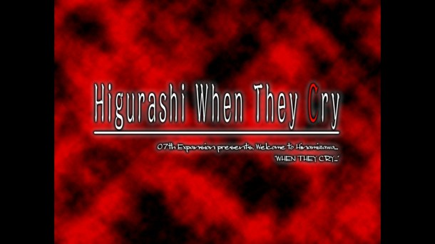 Higurashi When They Cry Ch 1 Title