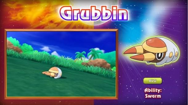 Pokémon Sun and Moon Grubbin