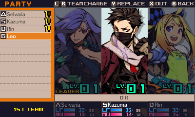 7th Dragon III Code: VFD | Character creation