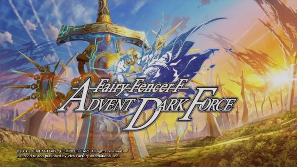 Fairy Fencer F Advent Dark Force Title Screen