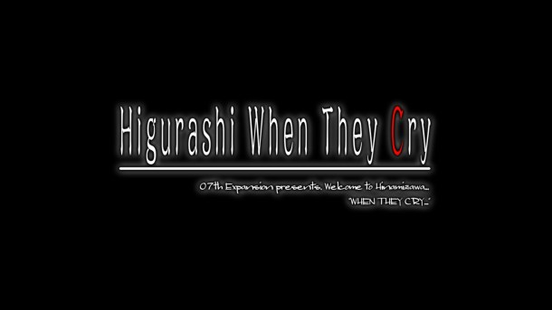 Higurashi When They Cry Ch 2 Title Screen