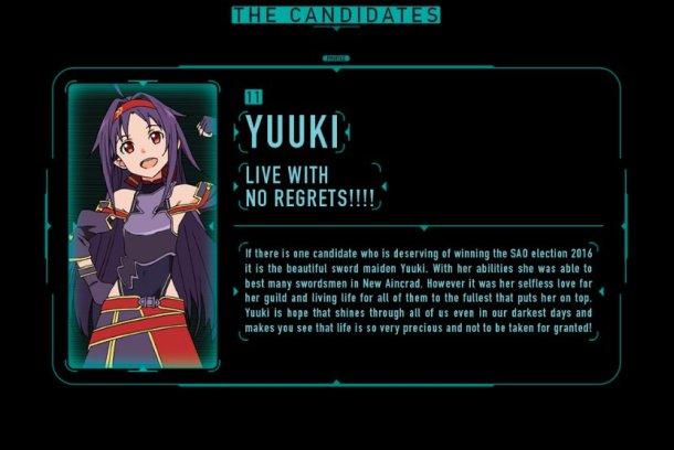 SAO Election 2016 | Yuuki