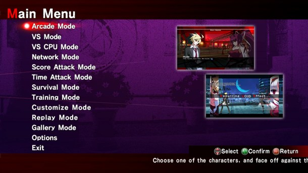 Under Night In-Birth Exe Late | Mode Select