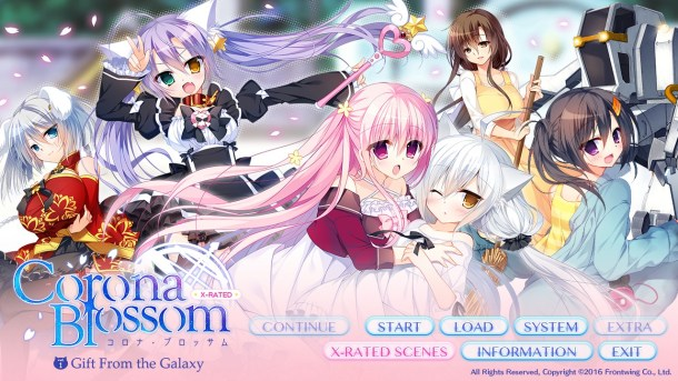 Corona Blossom Vol. 1 Title Screen