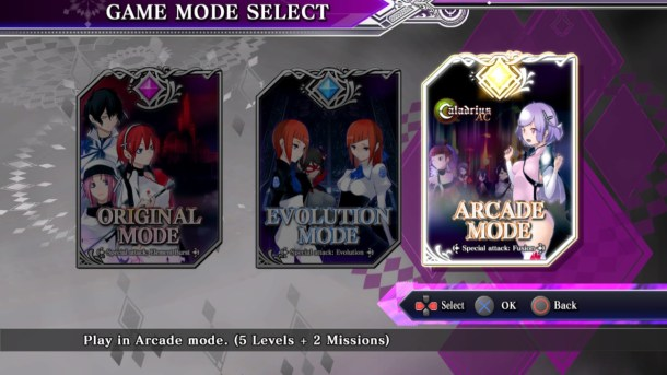Caladrius Blaze | Mode select