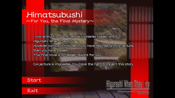 Higurashi When They Cry Hou Ch 4 | Final