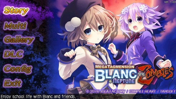 MegaTagmension Blanc + Neptune Vs Zombies Title Screen