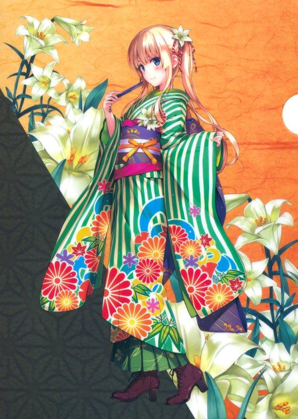Saekano   Eriri Spencer Sawamura, Kimono Ver. (Original Illustration)