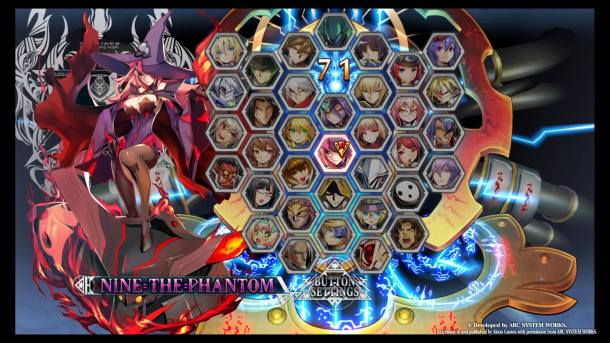 BlazBlue Central Fiction Character Select