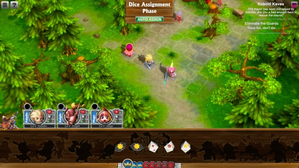 Super Dungeon Tactics | Assigning dice to your heroes.