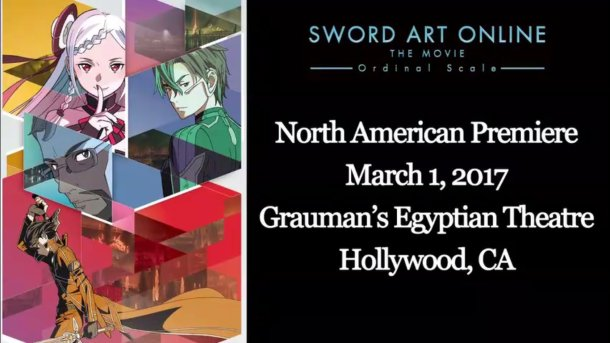 Sword Art Online the Movie: Ordinal Scale | North America Premiere