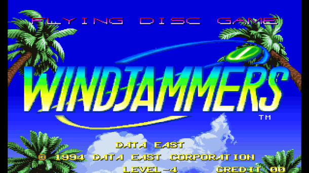 Windjammers | title screen