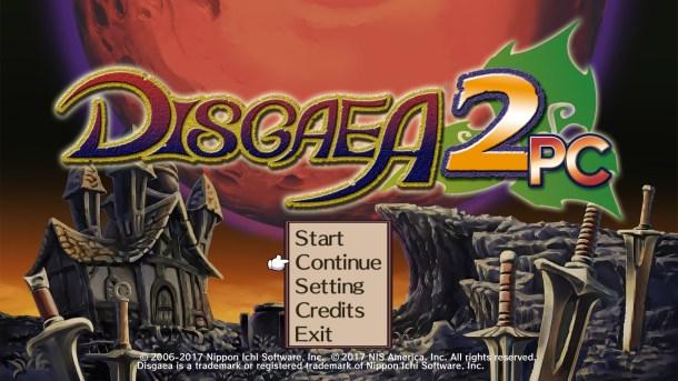 Disgaea 2 PC Title Screen