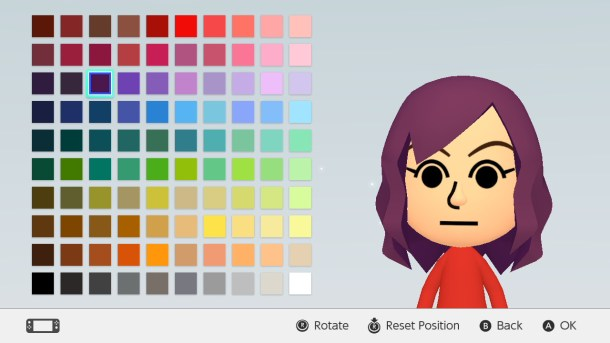 Mii Maker on Switch
