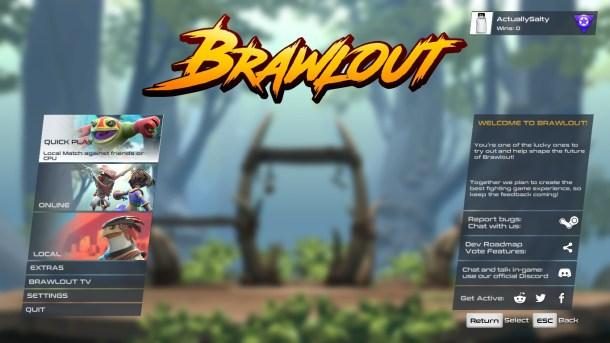 Brawlout | Menu