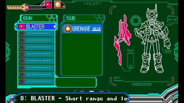 Blaster Master Zero | Weapons