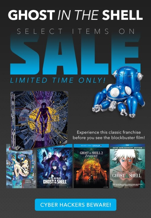 RightStuf | Ghost in the Shell Sale
