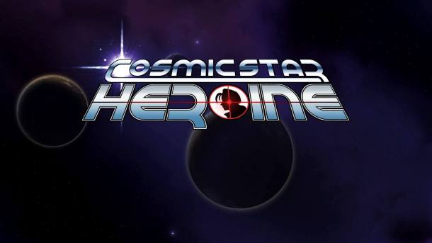 Cosmic Star Heroine Title Screen