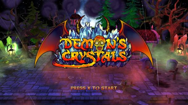 Demon's Crystals Title Screen