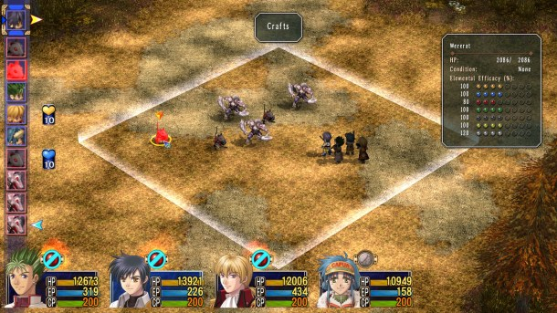 Trails in the Sky The 3rd   Battle scene