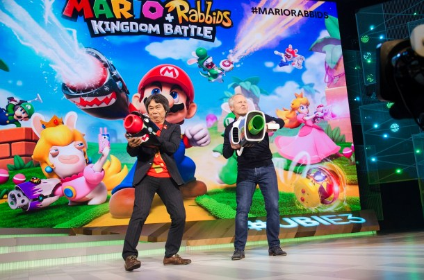 Mario + Rabbids Kingdom Battle || Shigeru Miyamoto and Ubisoft CEO at Ubisoft's E3 Presentation