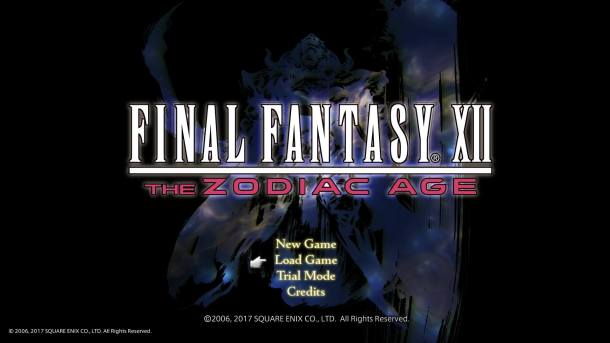 Final Fantasy XII The Zodiac Age Title Screen