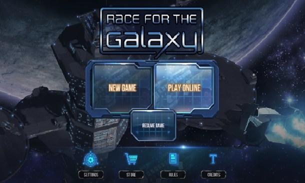Race for the Galaxy | Main menu