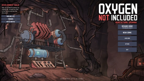 Oxygen Not Included | Main Menu