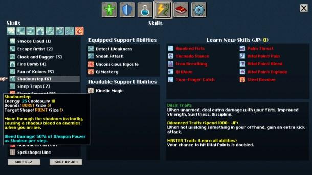 Tangledeep   Ability customization