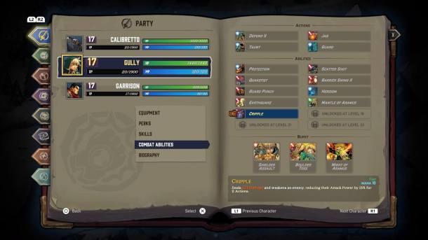 Battle Chasers Nightwar | Abilities