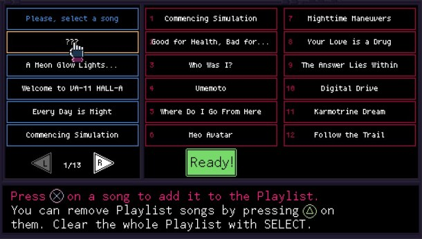 VA-11 HALL-A | Jukebox
