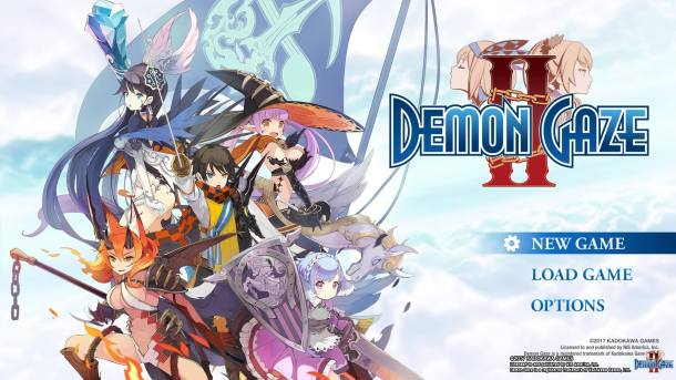 Demon Gaze II Title Screen