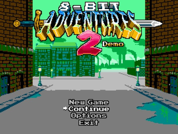 8-Bit Adventures | Title Screen
