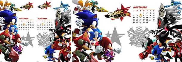 Sonic Forces Calendar
