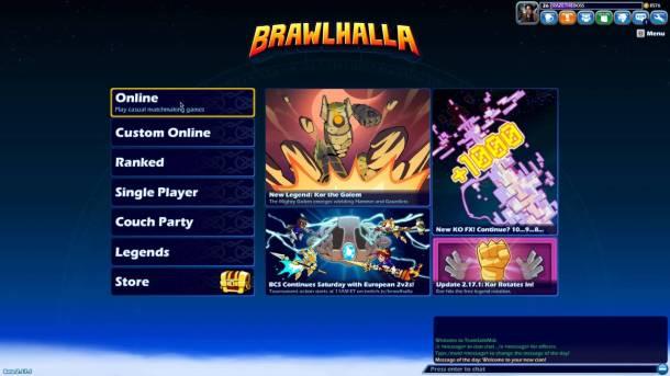 Brawlhalla | Menu