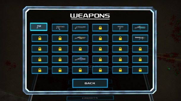 Crimsonland | The Weapons Screen