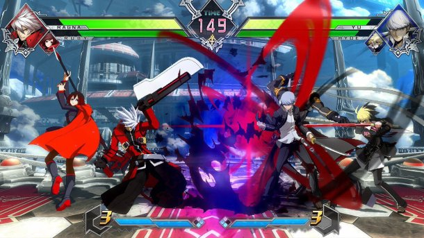 BlazBlue Cross Tag Battle Yu and Ragna